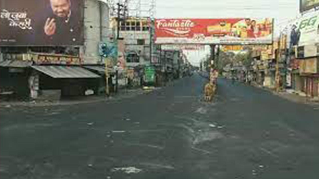 कड़े प्रतिबंधों के कारण मीरा रोड की सड़कों पर पसरा सन्नाटा